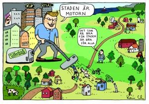 Staden är motorn, Illustratör Karin Casimir Lindholm