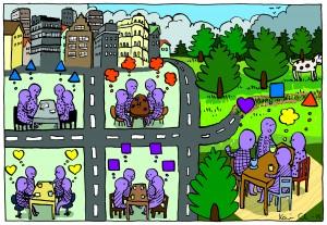 Mångfald, tolerans och kreativitet Illustratör Karin Casimir Lindholm